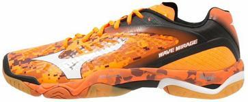 Mizuno WAVE MIRAGE Buty do piłki ręcznej orange/white/black X1GA1550