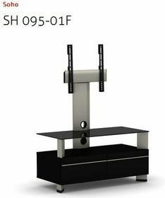 Elmob Stolik pod telewizor LCD LED Plazma do 37 - Soho 095-01F Black