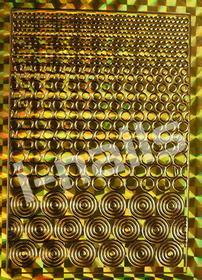 Ozdoby do paznocki laserowe wycinane z motywami hologramowymi - złote kółeczka
