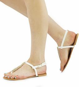 Białe sandały Mia biały