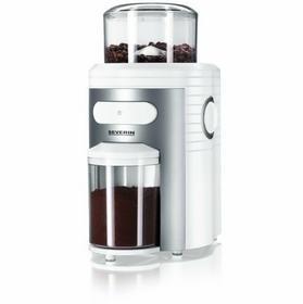 Severin KM 3873 Młynek do kawy ze stożkowatym żarnem kolory biało-srebrny