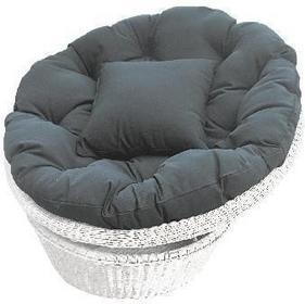 Miloo :: Fotel obrotowy TWIST biało szary - biały, szara poduszka