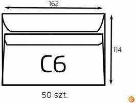 NC Koperta C6 biała samoklejąca (op. 50 szt.) (B-KOP-C6/50 SK)