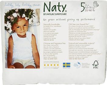 NATY NATURE BABYCARE Ekologiczne pieluchomajtki 5 (12-18Kg) 20 Szt 244107