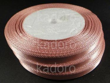 Wstążka atłasowa 6 mm pudrowy róż - rolka