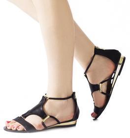 Czarne sandały Rebeca czarny