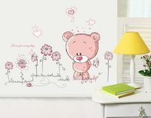 Naklejki na ścianę do pokoju dziecięcego Miś