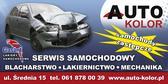 AUTO KOLOR Serwis Samochodowy - blacharstwo, lakiernictwo, mechanika