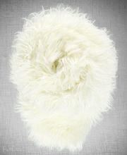 Koc, narzuta na łóżko, kanapę LUMA biały 155x200 cm