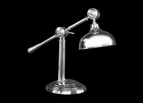 Materiał: Aluminium Kolor: Chrom Wymiary: średnica - 27 cm                    wysokość - 56 cm