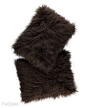 Futrzana poduszka dekoracyjna LUMA brązowy 40x50 cm