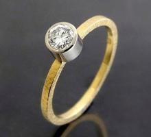 Złoty pierścionek z brylantem 0,30 ct SI/H B_1730