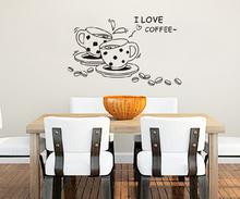 Naklejki na ścianę Kawa Filiżanki