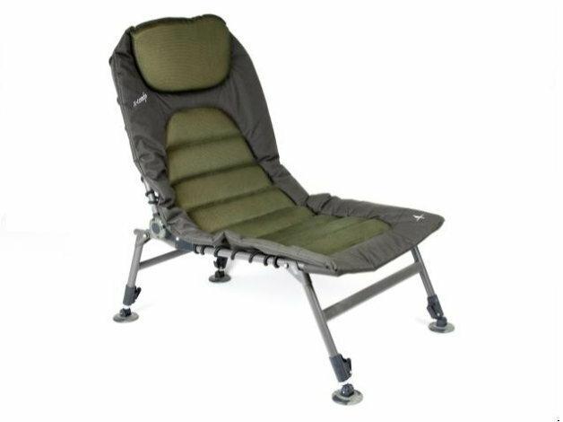 Fotel stworzony, by zapewniać wędkarzowi maksimum możliwego komfortu - regulowane oparcie i nogi, wygodne poszycie oraz mocna rama.