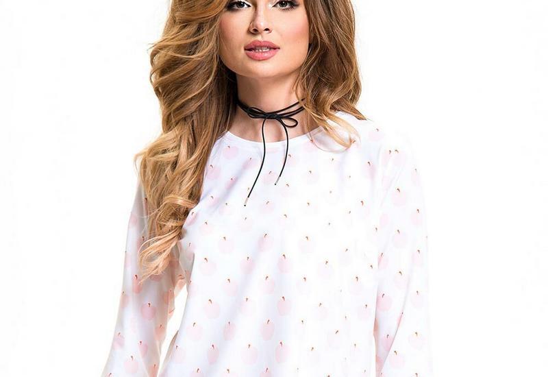 różowa rozkloszowana sukienka - LOVEES zdjęcie 4
