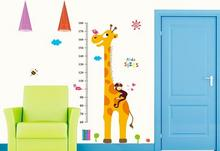 Naklejki na ścianę Miarka Wzrostu Żyrafa