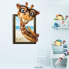Naklejki na ścianę Żyrafa 3D