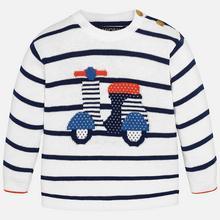 Sweterek dla chłopca baby z rysunkiem Vespy
