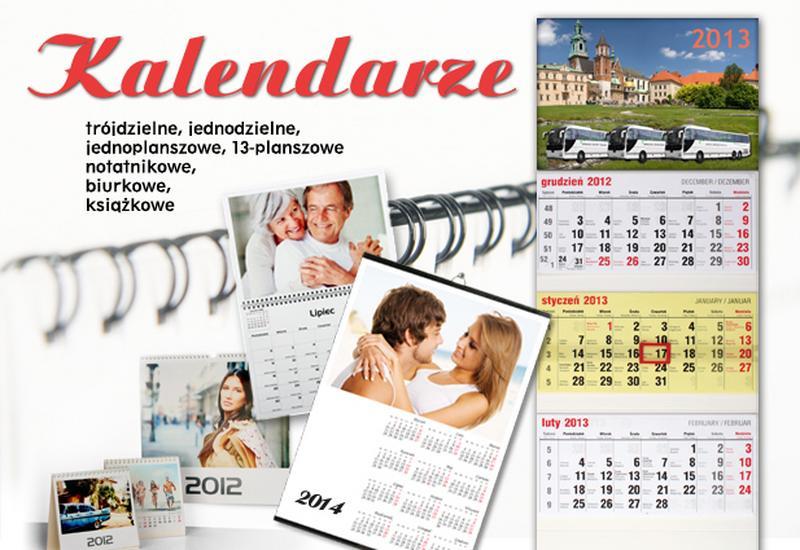 Kalendarze trójdzielne, fotoksiążka, metalowe długopisy grawerowane