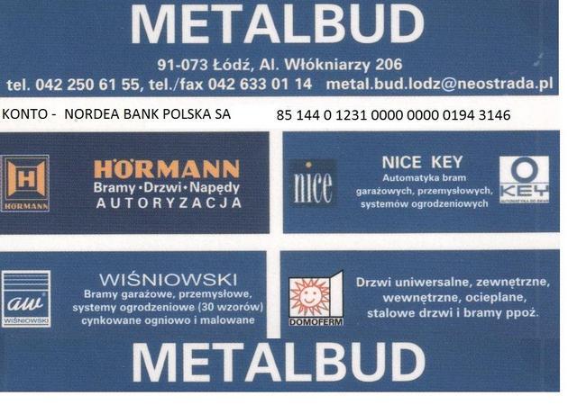 drzwi wewnętrzne - Metalbud. Ogrodzenia, bra... zdjęcie 1