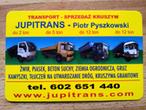 JUPITRANS Transport i sprzedaż, żwir, piasek, ziemia, kamień, kruszywa, beton