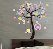 Naklejki na ścianę Drzewo Sowy Sówki