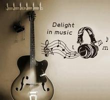 Naklejki na ścianę DJ Słuchawki