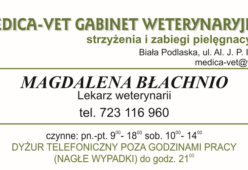 lessetky - MEDICA-VET. Gabinet weter... zdjęcie 1
