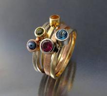 Komplet 5 złotych pierścionków