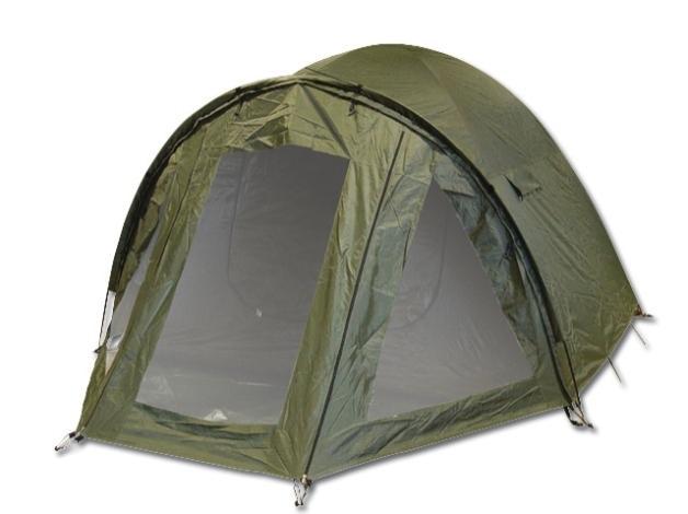 Namiot wodoodporny i odporny na przedarcia, co pozwala wędkować w każdych warunkach. Wymiary: 260x210x160cm. Waga: 7,6kg.