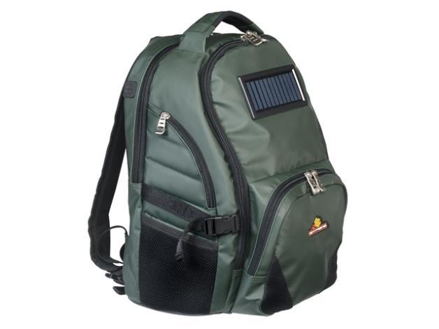 Perfekcyjnie wykonany plecak z panelem słonecznym, dzięki któremu podładujesz laptopa, komórkę czy aparat. Wymiary: 39 x19x43cm.