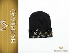 NEW MADE IN ITALY czapka z gwiazdkami wełna