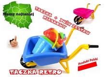 TACZKA RETRO + DUŻY ZESTAW DO PIASKU GRATISY!!!!!
