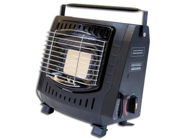 Łatwy w użyciu, kompaktowy grzejnik na naboje gazowe, wyposażony w regulację grzania, idealny na dłuższe zasiadki.