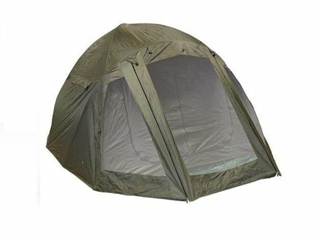 Kompletny i łatwy w rozkładaniu, duży, karpiowy namiot dwuosobowy na każdą porę roku.