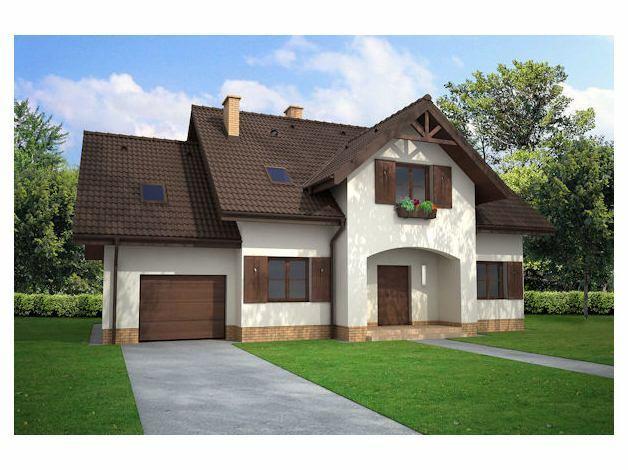 dom Warszawa Północna (projekt domu w stylu cottage)