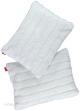 Futrzana poduszka dekoracyjna NORKA biały 40x50 cm