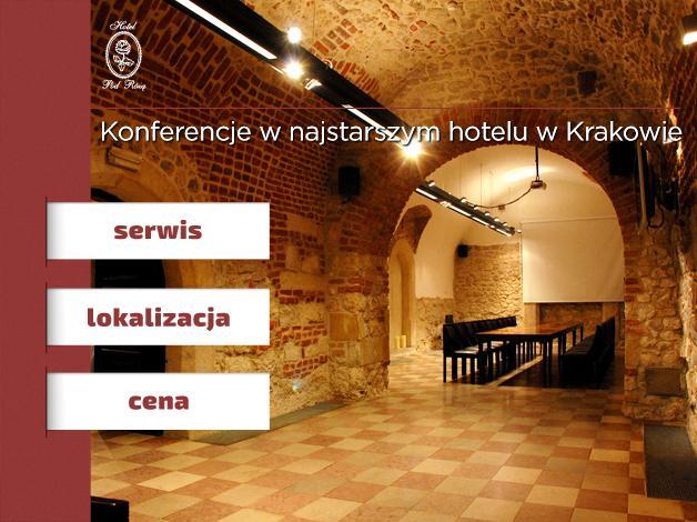 Najstarszy w Krakowie hotel, ulokowany niecałe 200 metrów od Rynku Głównego, jest oryginalnym miejscem na zorganizowanie spotkania czy wesela.