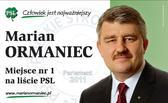 Marian Ormaniec. Komitet Wyborczy Polskie Stronnictwo Ludowe