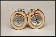 Kolczyki drewniane Drzewo życia