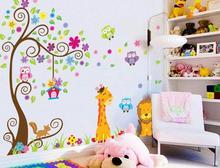 Naklejki na ścianę Drzewo Zwierzęta