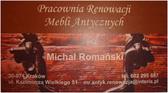 Pracownia Renowacji Mebli Antycznych Michał Romański - renowacja mebli, antyków, naprawa starych mebli