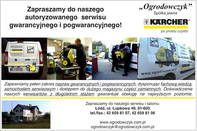 Ogrodowczyk KARCHER. Profesjonalne urządzenia myjące, serwis Karcher