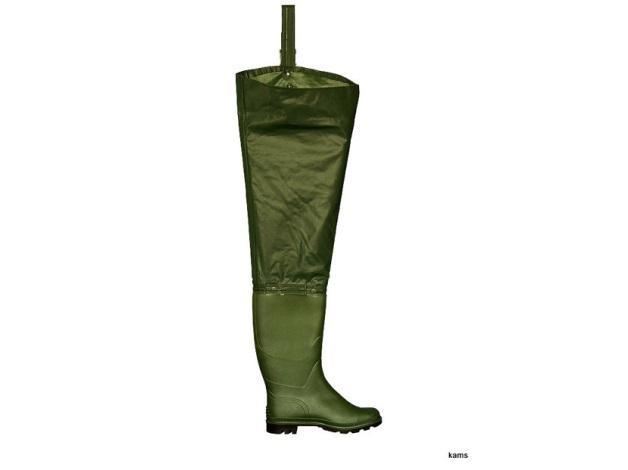 Buty zawodowe WODERY. Wykonane z PCV. Długa cholewa chroniąca całą nogę przed zamoczeniem wodą