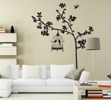 Naklejki na ścianę Drzewo z klatką