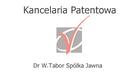 Kancelaria Patentowa Dr W. Tabor Sp. J.