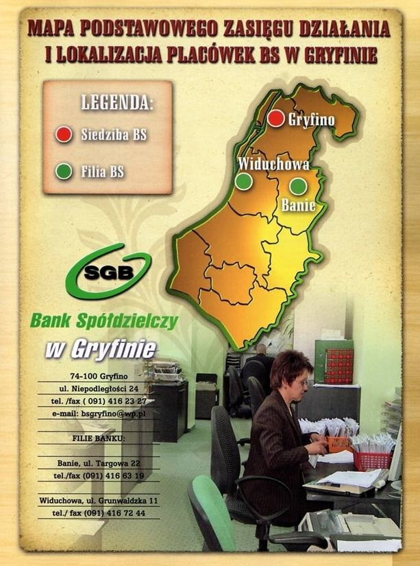 konto osobiste - Bank Spółdzielczy w Gryfi... zdjęcie 1