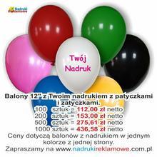 Balony z reklamowe z Twoim nadrukiem.