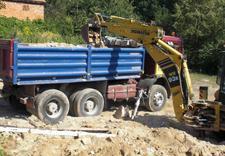 usługi ziemne, transport kruszywa, kucie betonu
