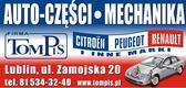 Tompis Auto Części Mechanika: Citroen, Peugeot, Renault